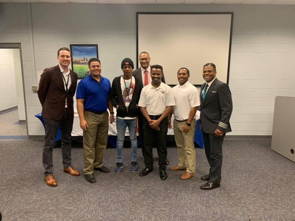 American Airlines and Fly For The Culture came together to educate high school students about the wide range of career opportunities in aviation.